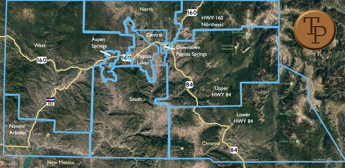 Neighborhood Real Estate Search Map - Pagosa Springs Real Estate